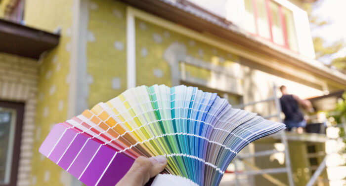 choosing a paint color for house exterior, facade