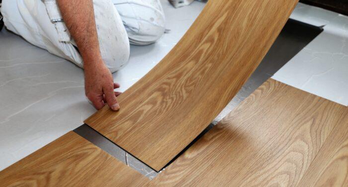 72308303 - man laying floor pvc